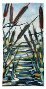 Fire And Dragonflies Beach Towel