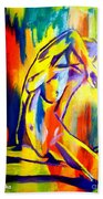 Fire And Gold Beach Towel