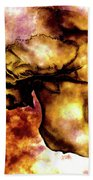 Fire And Skull Beach Towel