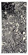 Fire Breathing Cow Beach Towel by Sean Corcoran
