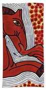 Fire Breathing Horse Beach Towel