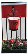 Fire Buckets Beach Towel