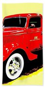 Fire Engine Ok Beach Towel