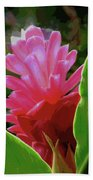Fire Flower Beach Towel
