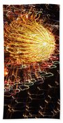 Fire Flower Beach Towel by Karen Wiles