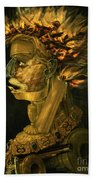 Fire Beach Towel by Giuseppe Arcimboldo