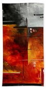 Fire Hazard Original Madart Painting Beach Towel