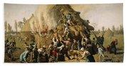 Fire In A Haystack, 1856 Beach Sheet