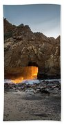 Fire In The Hole Beach Towel
