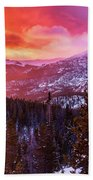 Fire In The Sky Beach Towel