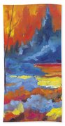 Fire Lake Beach Towel
