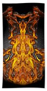 Fire Leather Beach Towel