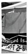 Fire Of God Is Coming Bw Beach Towel