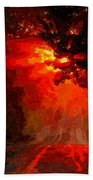 Fire Road Beach Towel