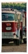 Fire Truck  Engine 13 Village Of Tully New York Pa Beach Sheet