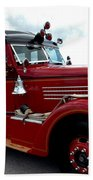 Fire Truck Selfridge Michigan Beach Towel