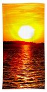 Fireball Falling Beach Towel