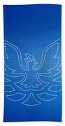 Firebird Blueprint Beach Towel