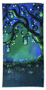 Fireflies Beach Towel
