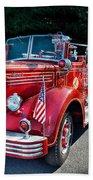 Fireman - 1949 And It Still Runs  Beach Towel