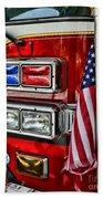 Fireman - Fire Truck Beach Towel