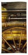 Fireman - Piano Engine - 1855  Beach Towel by Mike Savad