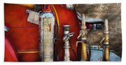 Fireman - An Assortment Of Nozzles Beach Towel