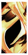 Firewater 1 - Buy Orange Fire Art Prints Beach Towel