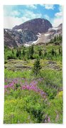 Fireweed Frenzy Beach Towel