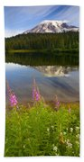 Fireweed Reflections Beach Towel