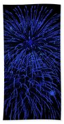 Firework Blues Beach Towel