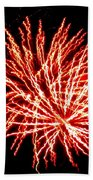 Firework Fireball Beach Towel