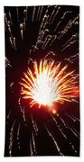Firework Matchlight Beach Towel