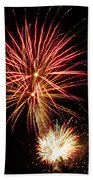 Firework Pink And Gold Beach Towel