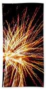 Firework Symphony Beach Towel