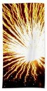 Firework Yellow Burst Beach Towel