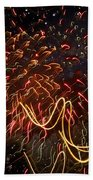 Fireworks Against The Stars Beach Towel