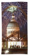 Fireworks At The Arch 1 Beach Towel