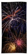 Fireworks Celebration  Beach Towel