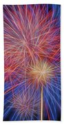 Fireworks Celebration Glow Square Beach Towel