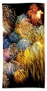Fireworks Exploding  Beach Towel by Garry Gay