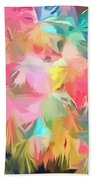 Fireworks Floral Abstract Square Beach Towel