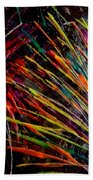 Fireworks In Bled Beach Towel