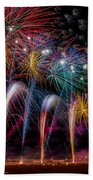 Fireworks Line Beach Towel