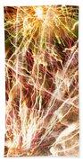 Fireworks Beach Towel
