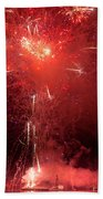 Fireworks Over Humboldt Bay Beach Towel
