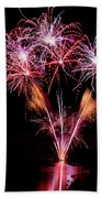 Fireworks Over Lake #15 Beach Towel