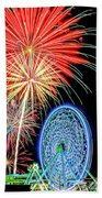 Fireworks-wildwood Nj Boardwalk Beach Towel