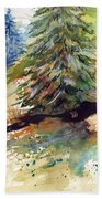 Firs On The Hill Beach Towel