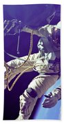 First American Walking In Space, Edward Beach Towel